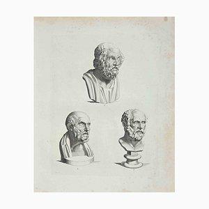Thomas Holloway, Ancient Busts, Etching, 1810