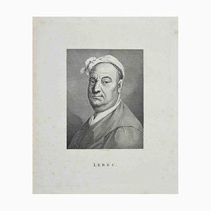 Thomas Holloway, Portrait of Lebec, Etching, 1810