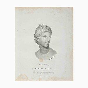 Thomas Holloway, Portrait of Venus De Medicis, Etching, 1810