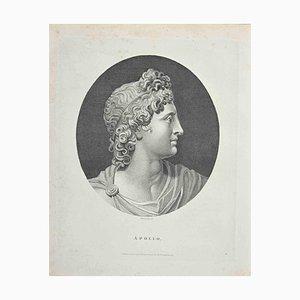 Anker Smith, Portrait of God Apollo, Etching, 1810