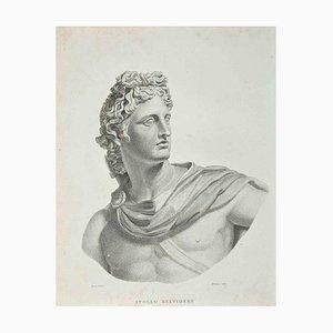Thomas Holloway, Portrait of Apollo Belvidere, Etching, 1810