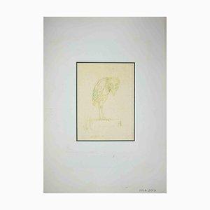 Dessin Leo Guida, Oiseau, 1970