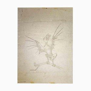 Leo Guida, The Bird, Zeichnung, 1970er