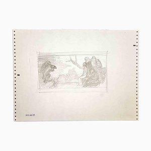 Leo Guida, Sybil in the Forest, Zeichnung, 1970er