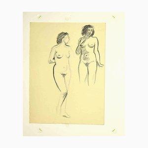 Leo Guide, Nudes, Zeichnung, 1980er
