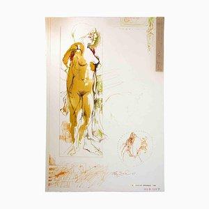 Leo Guide, Nude, Zeichnung, 1967