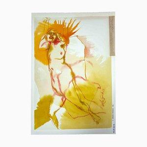 Leo Guide, Nude, Zeichnung, 1963
