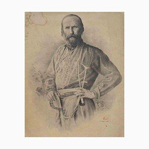 Unknown, Portrait of Giuseppe Garibaldi, Lithograph, 19th Century