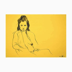 Leo Guide, Nude, Zeichnung, 1970er