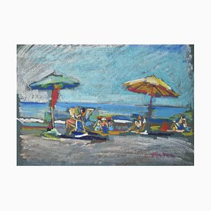Marco De Angelis, The Beach, Drawing, 1955