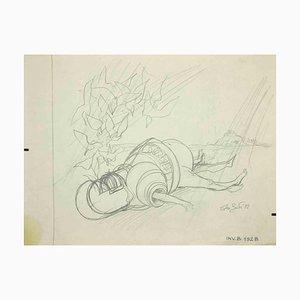 Leo Guide, Ritter, Zeichnung, 1972