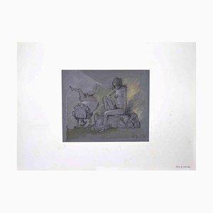 Leo Guide, Einsamkeit, Zeichnung, 1972