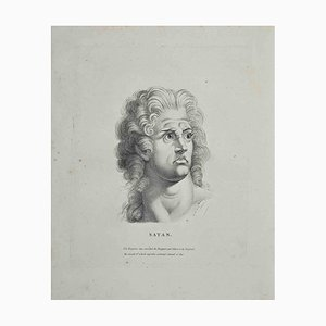 Heinrich Fuseli, Portrait of Satan, Etching, 1810