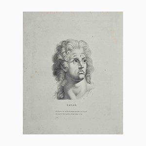 Heinrich Fuseli, Portrait of Satan, Radierung, 1810
