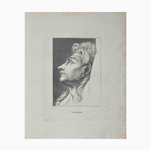 Heinrich Fuseli, Porträt von S. John, Radierung, 1810