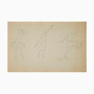 Unbekannt, The Study of Sportive Figures, Zeichnung, 1910er