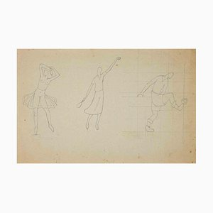 Unknown, The Study of Sportive Figures, Drawing, 1910s