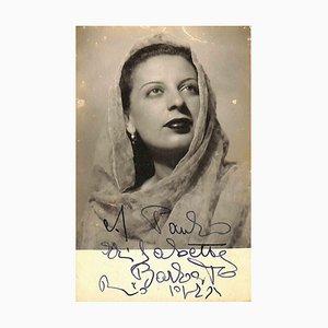 Unbekannt, Elisabetta Barbato Autogramm, 1940