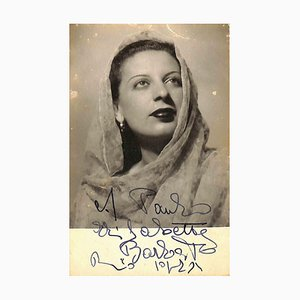 Unknown, Elisabetta Barbato Autographed Photograph, 1940