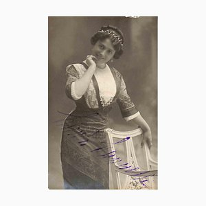 Unknown, Linda Cannetti Autographed Photocard, 1900
