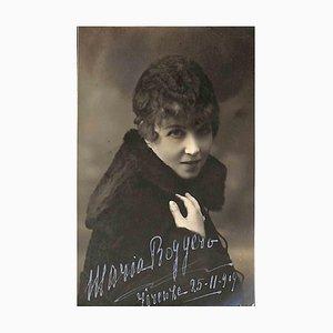 Unbekannt, Maria Roggero Autogramm, 1909
