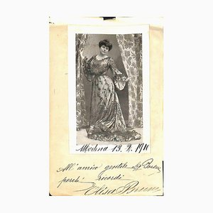 Unknown, Elisa Bruno Autographed Photocard, 1910