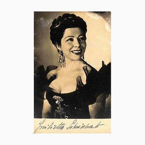 Unknown, Giulietta Simionato Autographed Photograph, 1940