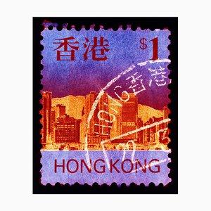 Hong Kong Briefmarkensammlung, Hk $ 1, Pop Art Farbfotografie, 2017