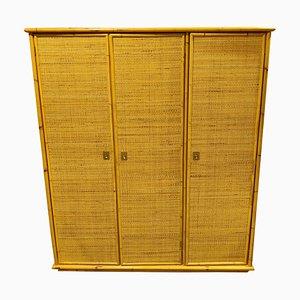 Rattan and Bamboo Wardrobe from Dal Vera, 1960s