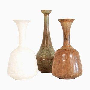 Mid-Century Ceramic Vases by Gunnar Nylund for Rörstrand, Sweden, 1950s, Set of 3