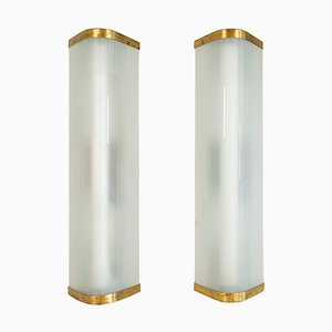 Extra-Large Mid-Century Modern Wall Lamps Attributed to Asea, Set of 2