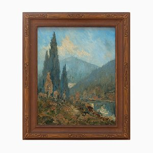 William J Solby, Mountain Landscape with Lake