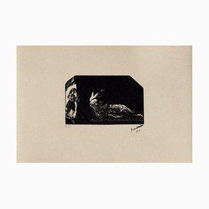 Scene of Harem, Jules Pierin, Woodcut