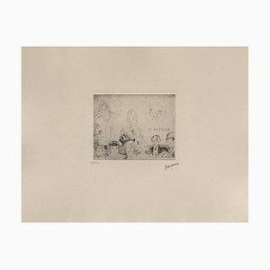 Temptation of Saint-Antoine, Jules Pierin, Etching