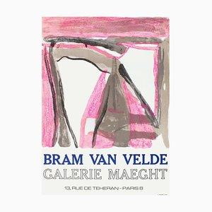 Póster de la Expo 75 Galerie Maeght en Bram Van Velde