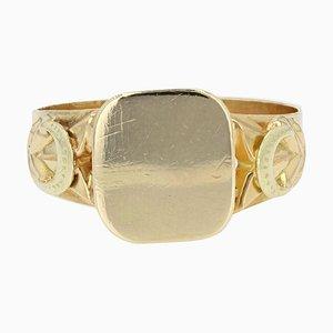 19th Century French 18 Karat Yellow Gold Signet Ring