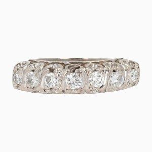 20th Century Brilliant Cut Diamonds Silver Garter Ring