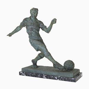 Sculpture de Footballeur Art Déco