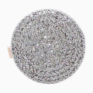 Diamant 9 Karat Roségold und Silber Ring