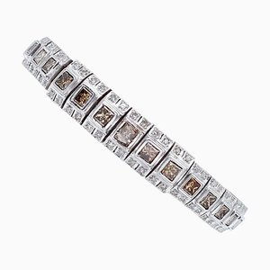 Bracelet Diamant Blanc en Or Blanc 14 Carat