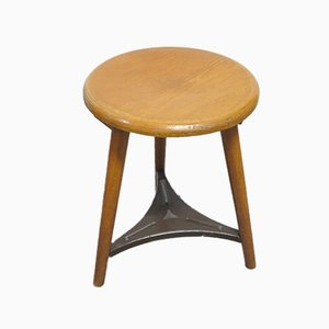 Vintage Industrial Workshop Stool, 1940s