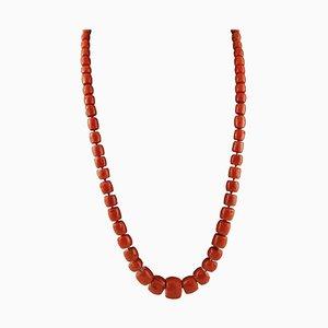 Rote Koralle Halskette