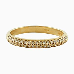 Veretta Diamant Ring aus 18 Karat Gelbgold