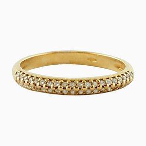 Veretta Diamond 18 Karat Yellow Gold Ring