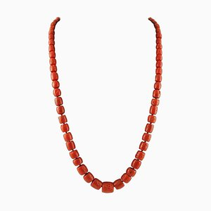 141.1 G Red Coral Long/Multi-Strand Necklace
