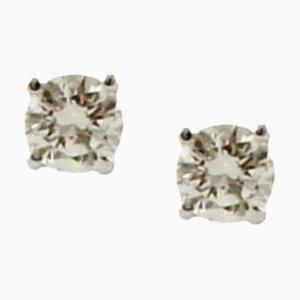 Diamond and 18 Karat White Gold Light-Point Earrings, Set of 2