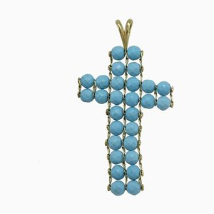 18 KT Gold Paste and Turquoise Pendant