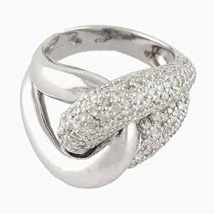 2.17 Carat Diamond and White Gold Ring
