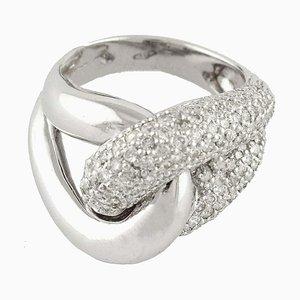 2,17 Karat Diamant und Weißgold Ring