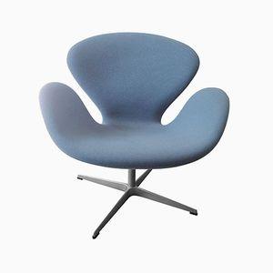 Light Blue Swan Chair by Arne Jacobsen for Fritz Hansen